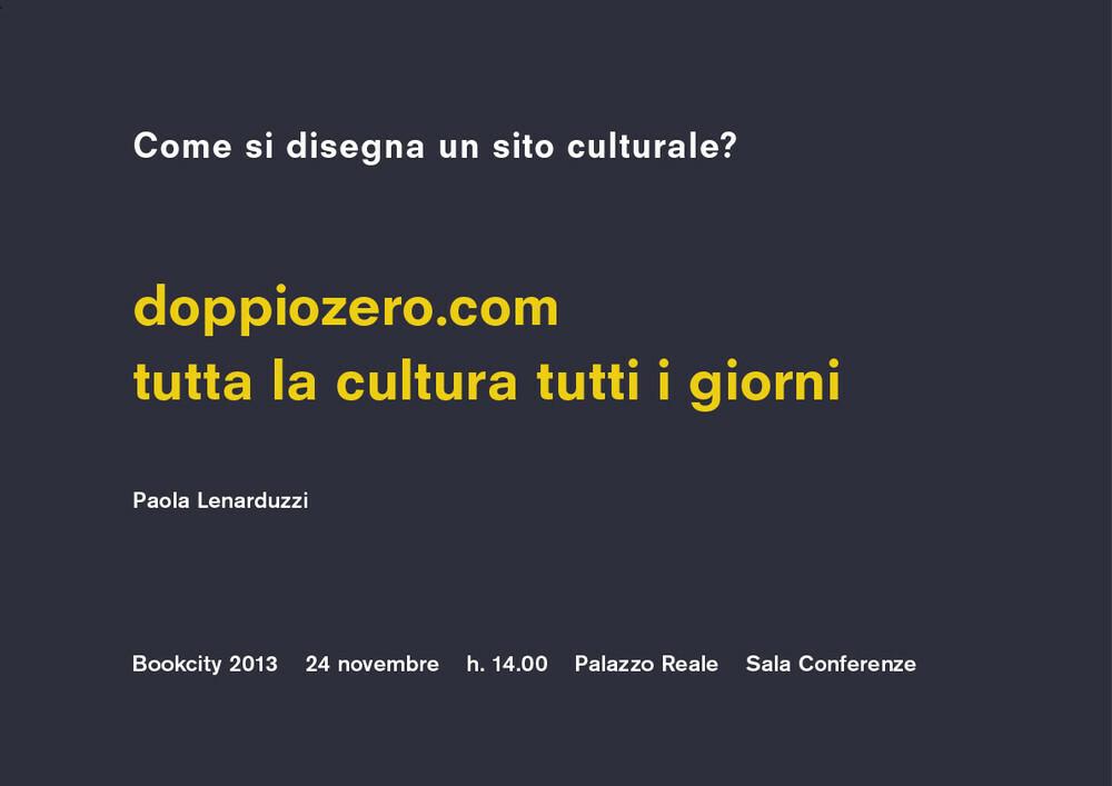 Come si disegna un sito culturale?