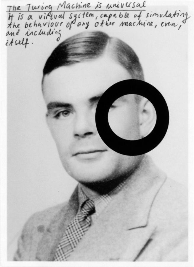 Henrik Olesen, Some Illustrations to the Life of Alan Turing (A virtual system, capable of simulating the behaviour of any other machine, even, and including itself), 2008.