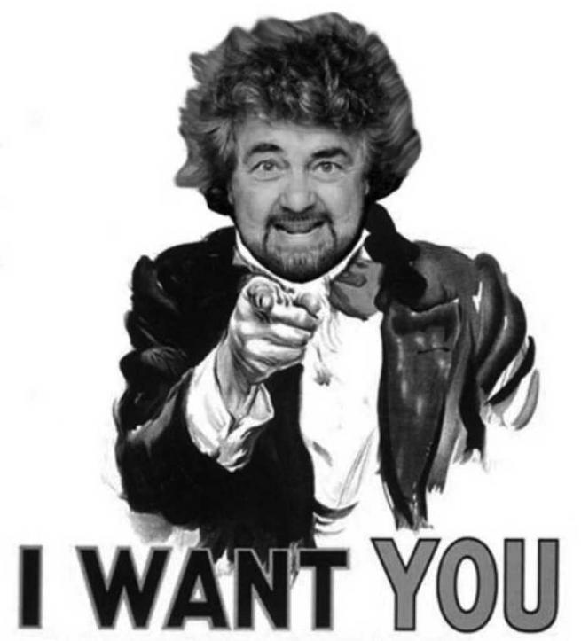 Beppe Grillo, I want you