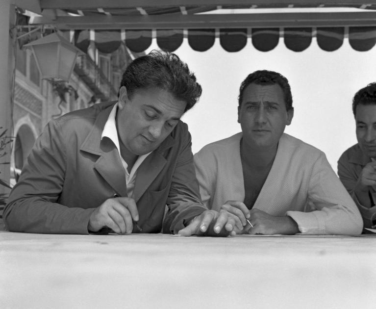 Alberto Sordi e Fellini